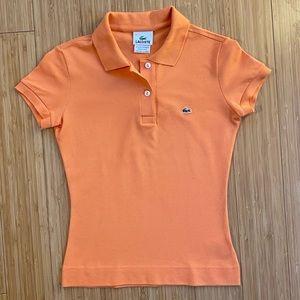 Lacoste Pique Stretch Polo - Apricot Color